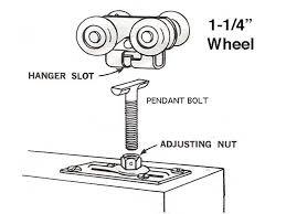 acme 1 1 4 roller closet door 4 nylon wheels