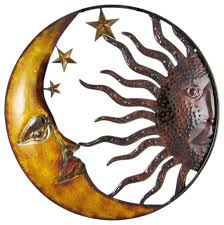 exclusive ideas sun and moon metal wall art interior decor home colors in conjunction with mexican
