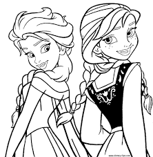 printable coloring book and pages frozen printable coloring pages anna and