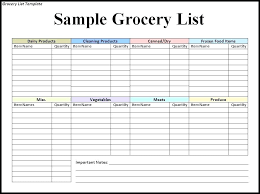 Free Printable Blank Grocery List Free Printable Blank Grocery List Template You Can Customize The