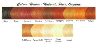Colora Henna Powder Color Chart Sbiroregon Org