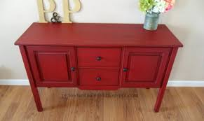 painted red furniture. Painted Red Furniture Painting Step D