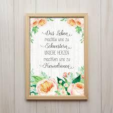 Schwester Spruch Bild Blumen Zitat Poster Deko Schwester Etsy