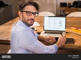 Interior Designer Laptop Portrait Young Image Photo Free Trial Bigstock