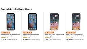 For On deal Iphone - Iclarified Unlocked Sale X Refurbished 725