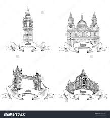 architectural drawings of famous buildings.  Drawings London Famous Buildings Set Hand Drawing Sketch Collection Of Save To A  Lightbox Home Decor  Architectural Drawings