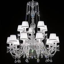barbieri venetian crystal chandelier with lampshades 10 5 lights transpa with