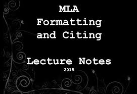 Mla Citations And Works Cited Lecture Notes Collection