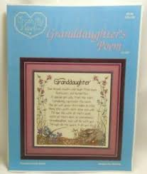 Csl Chart Details About Granddaughters Poem Cross My Heart Cross Stitch Pattern Chart Csl 28 1987