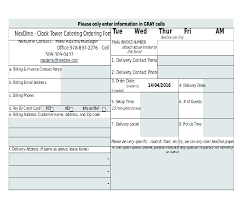 Excel Template For Price Of Food Order Lunch Form – Celebratelife
