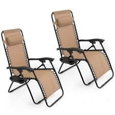 Patio Recliner Chairs Amazoncom Oshion 1 Pair Zero Gravity Chairs Black Lounge Patio