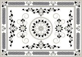 persian rug pattern vector background with oriental ornaments
