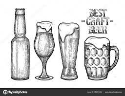 Grafische Glazen Bier Stockvector Homunkulus28 189274000