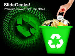 Recycled Garbage Geographical Environment Powerpoint