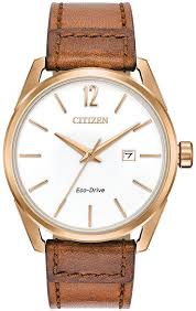 men s citizen cto brown leather band 42mm watch bm7413 02a loading zoom