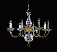 capodimonte porcelain chandelier lights brown lamp parts shades