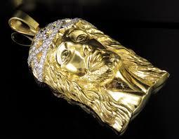 jewelry unlimited mens 10k yellow gold solid xl diamond pendant 3 0ct 3 5 com