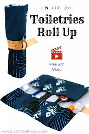 on the go toiletries roll up gifts for guys sewing gifts for men