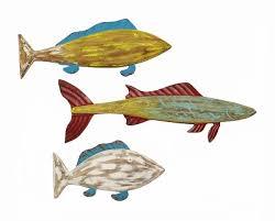wood carved fish wall art set on wood carved fish wall art with wood carved fish wall art set 84 00 enchanted cottage shop