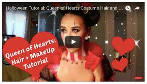 queen of hearts hair and makeup costume tutorial poshscene style beauty