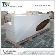 Acrylic office desk Acrylic Work Led Acrylic Solid Surface Reception Desk Tops For Hotel Customized Design Modern Front Office Factory Supply Acrylic Office Desk Evohairco Acrylic Office Desk White Pad Ultimate Clear Love Chic Accessories