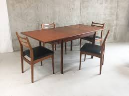 vintage mid century modern dining set bedroom furniture expandable table west elm pics of bedrooms black