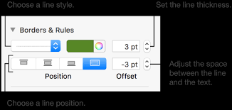 Pages For Mac Add Borders And Rules Lines In Pages