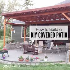 patio cover plans diy elegant how to build a diy covered backyard in covers 17