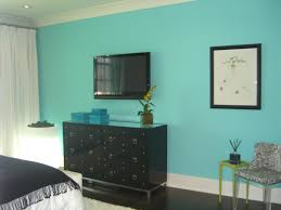 Peacock Colors Living Room Bedroom Interior Design With Peach Painted Wall Combined Turquoise