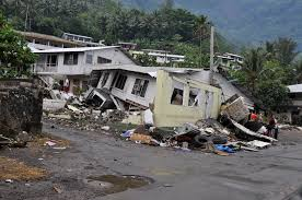 u s department of defense photo essay  a home s foundation damaged by a tsunami sits on an angle in pago pago
