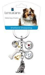 little gifts key chain shetland sheepdog