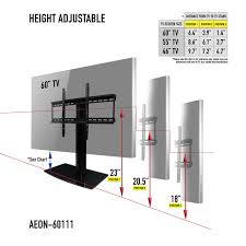 universal tabletop tv stand with swivel and height adjule