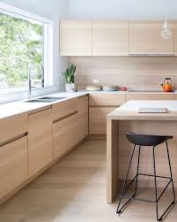 Light Wood Kitchen Cabinets Modern Kitchen Idea These Light Wood Cabinets Have Finger Pulls