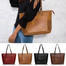 Large Capacity <b>Women Messenger Bags Vintage</b> Shoulder Tote ...