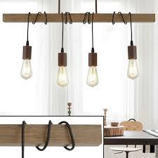 Design Pendellampe Holzbalken L 70 Cm H 150 Cm