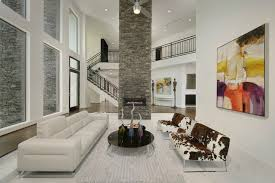 Modern Stone Accent Wall contemporary-living-room