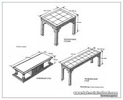 what are the tables standard sizes for