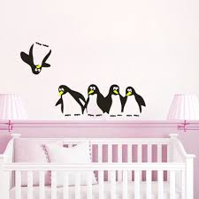 cute penguin fridge wall stickers kids nursery decor art wall decals decal mural