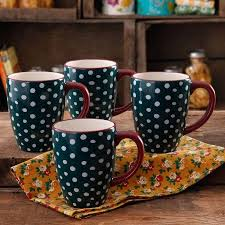 Pioneer woman coffee pods are available at walmart, and they come in several flavors which all sound very delicious: The Pioneer Woman Retro Dots 26 Ounce Jumbo Latte Mug Set 4 Pack Walmart Com Pioneer Woman Kitchenware Pioneer Woman Dishes Pioneer Woman