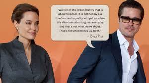 Brad pitt on gay marriage