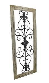 elk rod iron wall decor tan frame wrought iron fleur