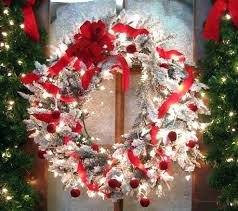 Outdoor Lighted Wreath Mesmerizing Cordless Wreath With Lights Improbable Gorgeous Inspiration Large