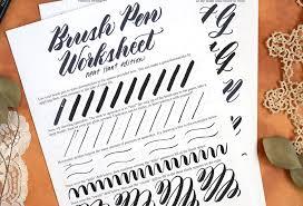 Brush Pen Calligraphy Worksheet: Neat Slant Edition | The ...
