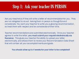 Letter Of Recommendation Not Submitted Ask Your Teacher S If They Will Write A Letter Of Recommendation