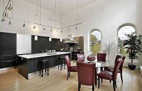 track lighting for high ceilings. open space kitchen and dining area with high ceiling designs track lighting black cabinets for ceilings e