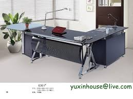 Executive Office Designs Awesome Hot Sale Tempered Glass Office Desk Boss Desk Table Commercial
