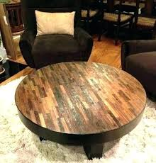 coffee tables on solid round coffee table round wood coffee tables attractive reclaimed wood round