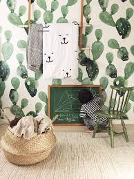Love That Cactus Wallpaper Baby Kinderkamer Kinderkamer Behang