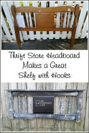 repurposed furniture store. Distressed Chalkboard Headboard Coat Rack Repurposed Furniture Store