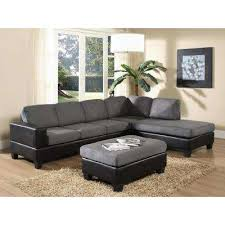 leather sectional living room furniture. dallin gray microfiber sectional leather living room furniture